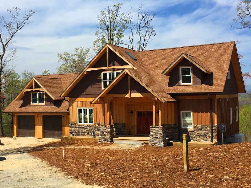 Nc mountain homes cabin styles mtn land for sale for Country mountain homes