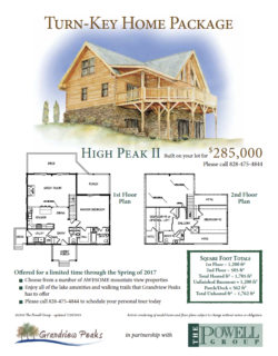 Log Cabin Land/Home Package North Carolina
